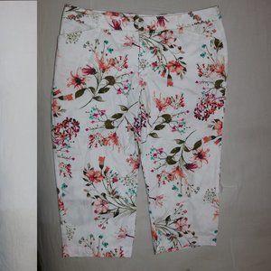 St. John's Bay Floral Flower Pants W36x18.5 Inseam